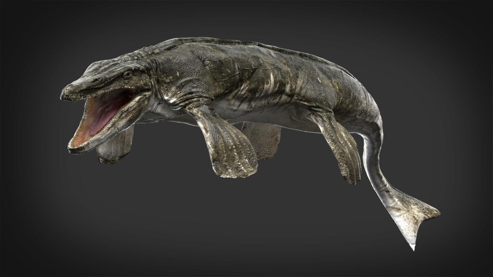 Tylosaurus 3D model Rigged