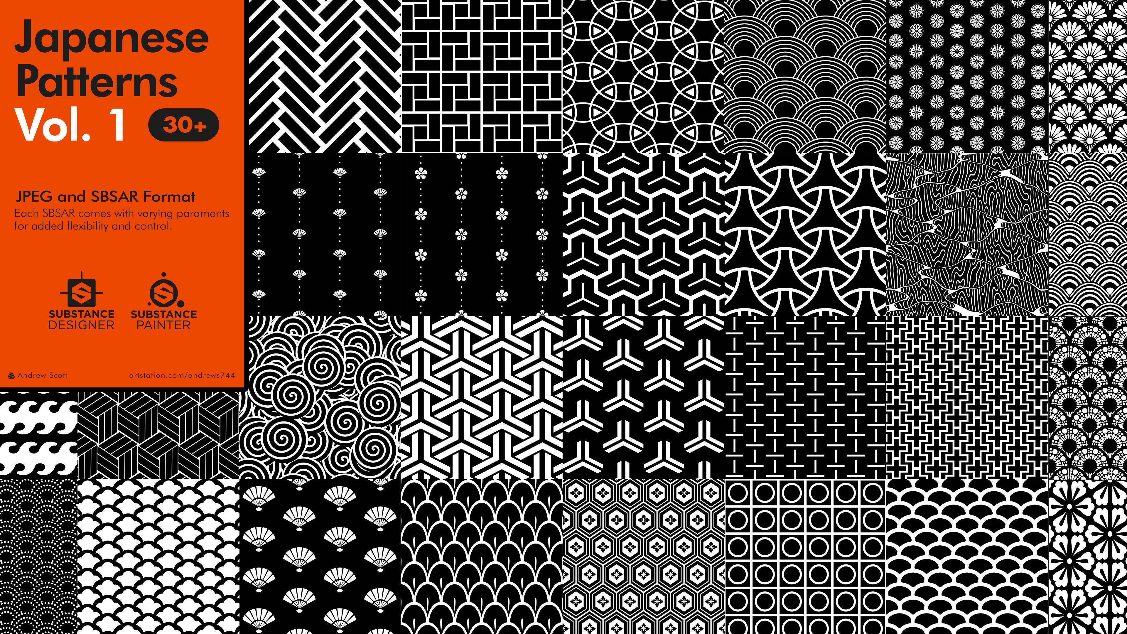 Japanese Patterns Vol 1