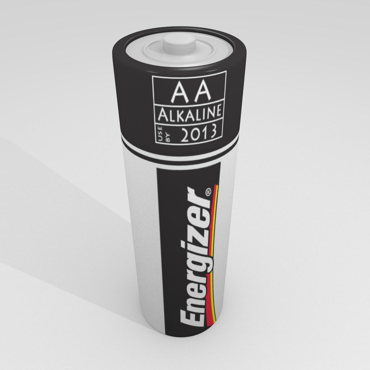 Energizer Battery Free VR AR Low Poly 3D Model OBJ 3DS