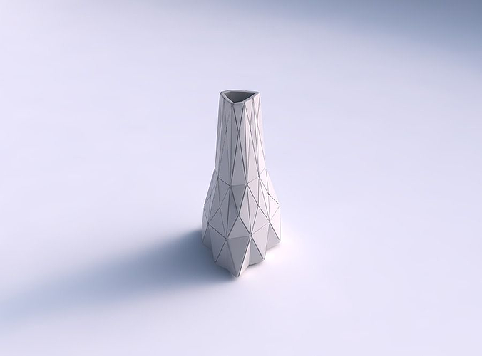 photograph relating to Printable Plates identified as Vase grounded triangle with triangle plates 3D Print Type