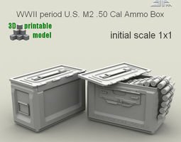 3d printable model spm-001-m2-01print   wwii period us m2  50 cal ammo box