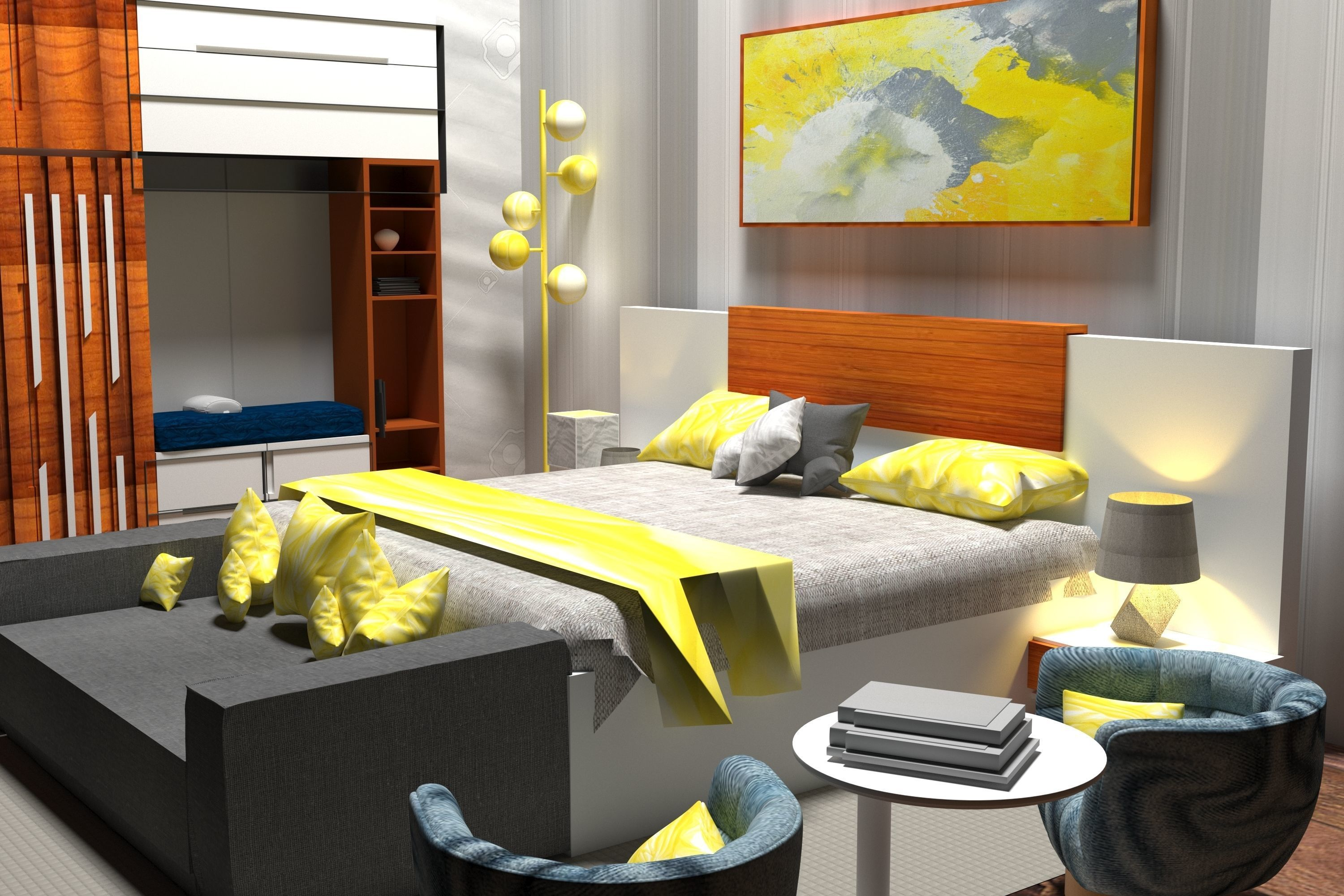 2020 bed room interior design