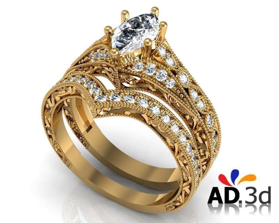 Golden Ring 3d Model 3d Printable 3dm Cgtrader Com