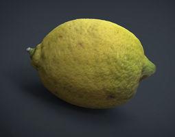 3d asset lemon low-poly