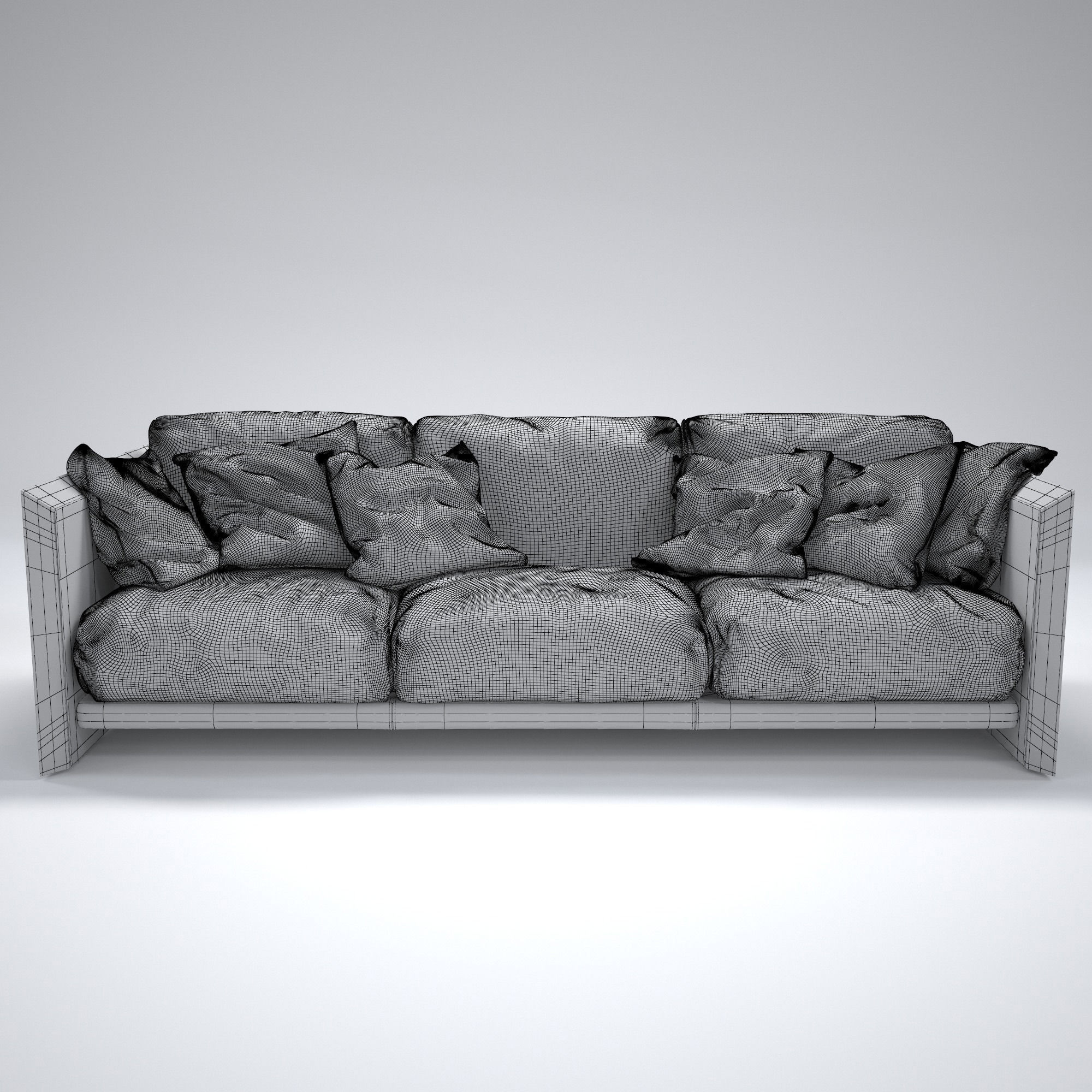 riva soft wood sofa 3d model max obj fbx