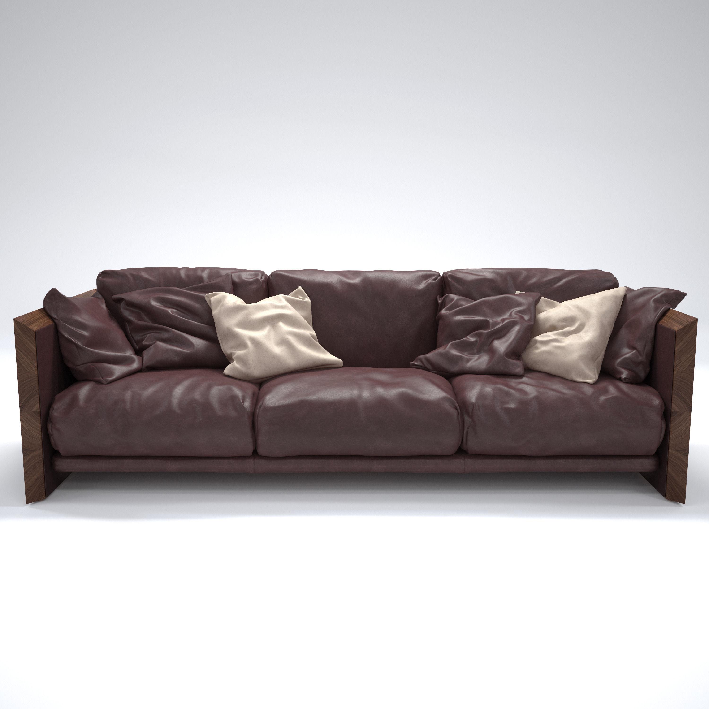 RIVA Soft Wood Sofa | 3D model
