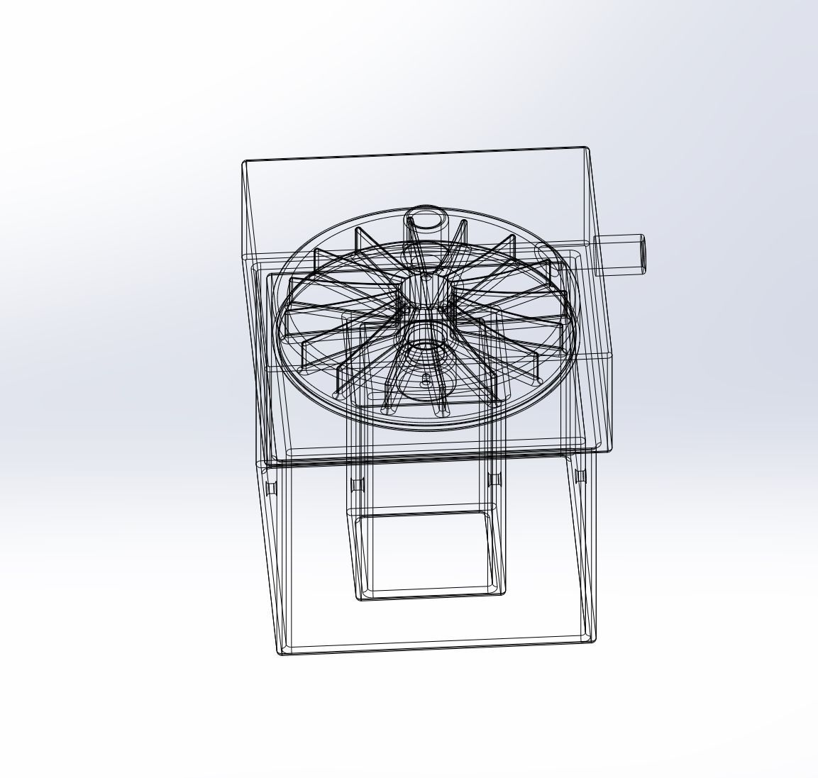 Simple Radial Blower Assembly For Experimental Ventilators