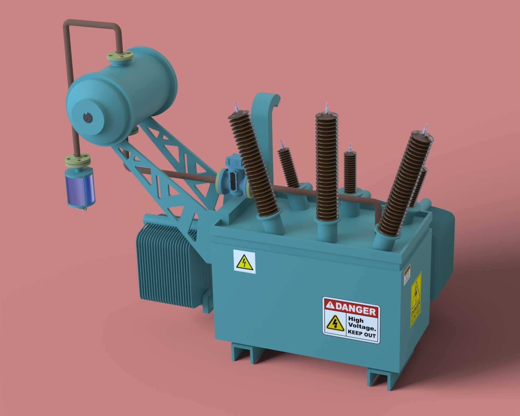 Electrical Transformer with Assembly