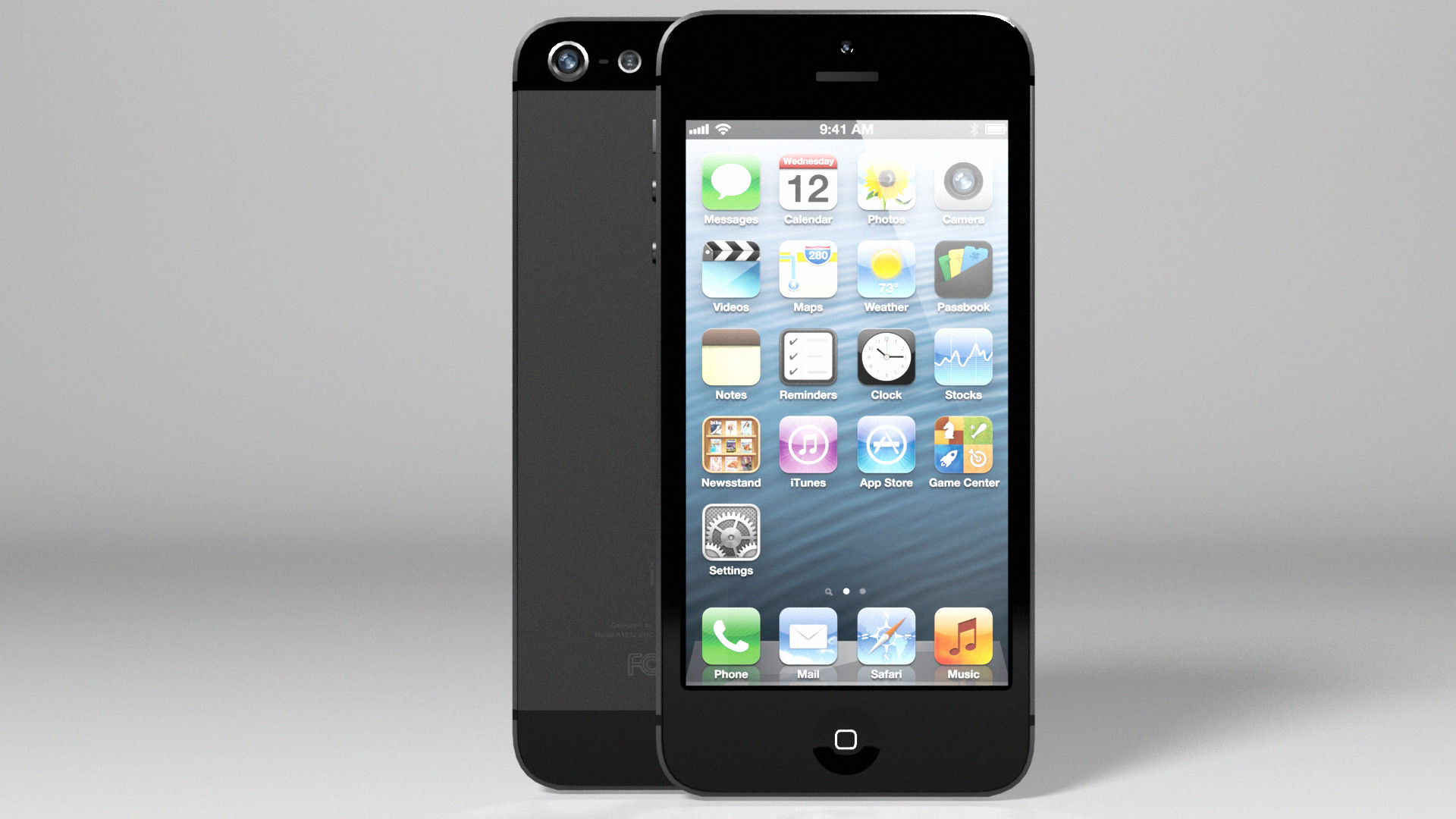 Iphone 5 Black Edition Silver Vray 3d Model Max Obj 3ds Fbx Dxf Dwg 4