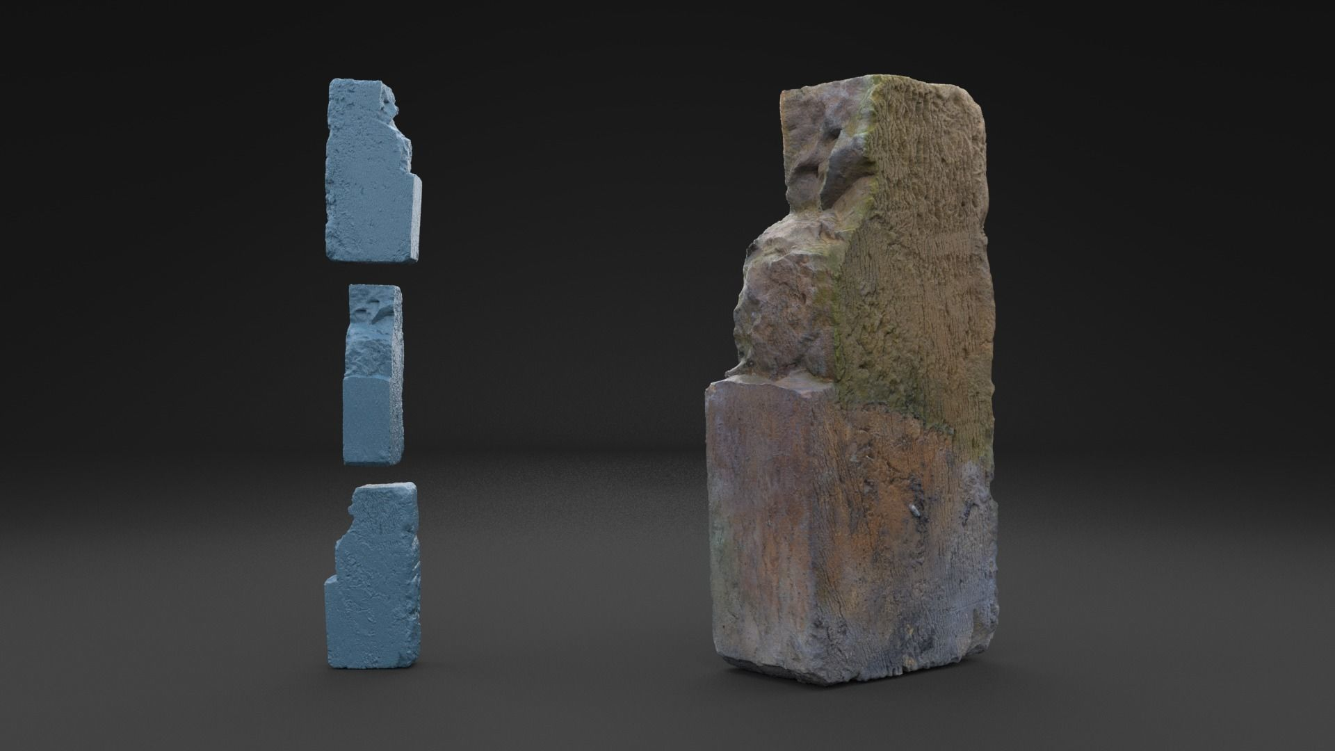 Scanned Old Brick HIGH POLY