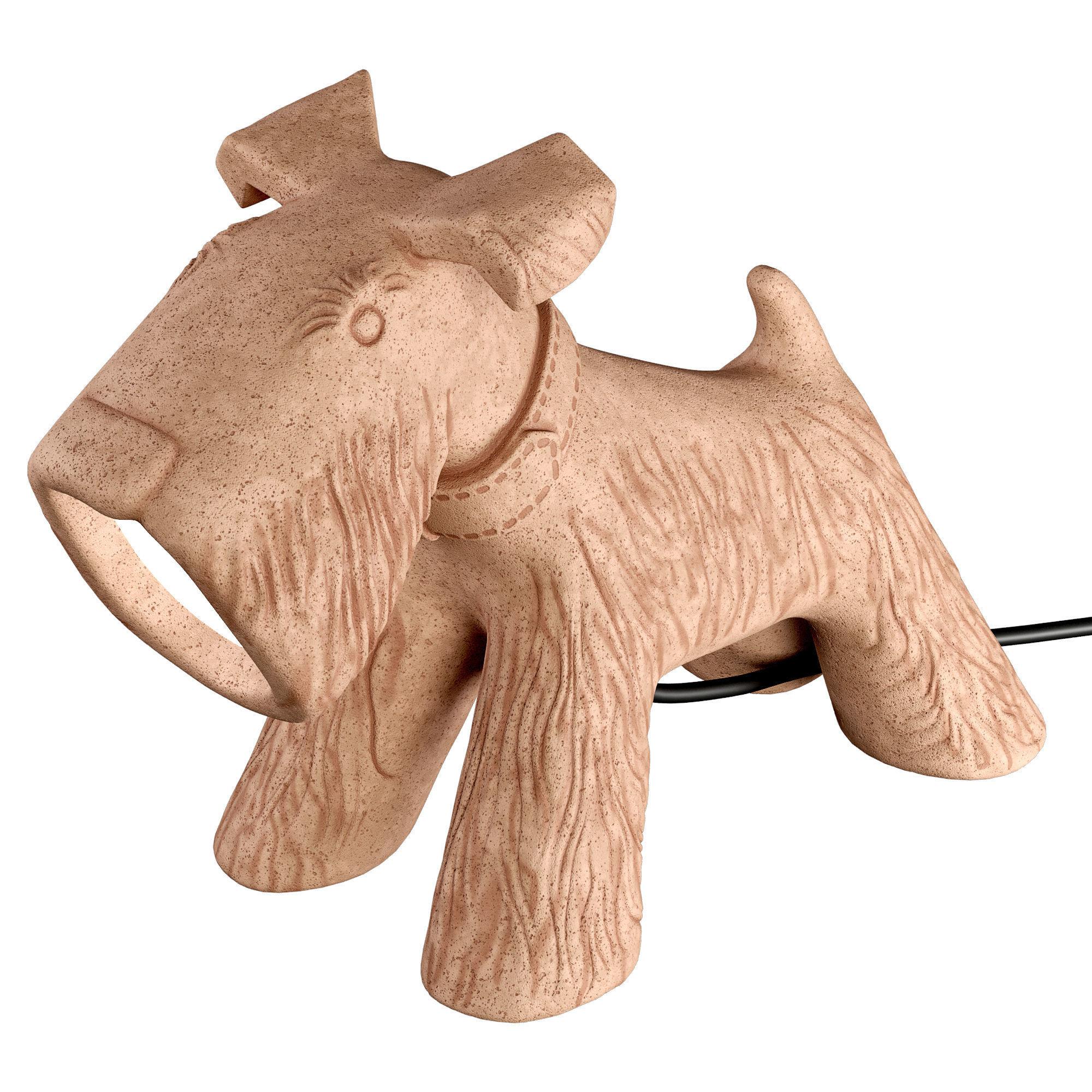 TOSCOT JULE CERAMIC DOGGY GARDEN LAMP