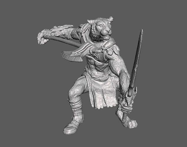 Tiger Fighter Figurine 3D Scan