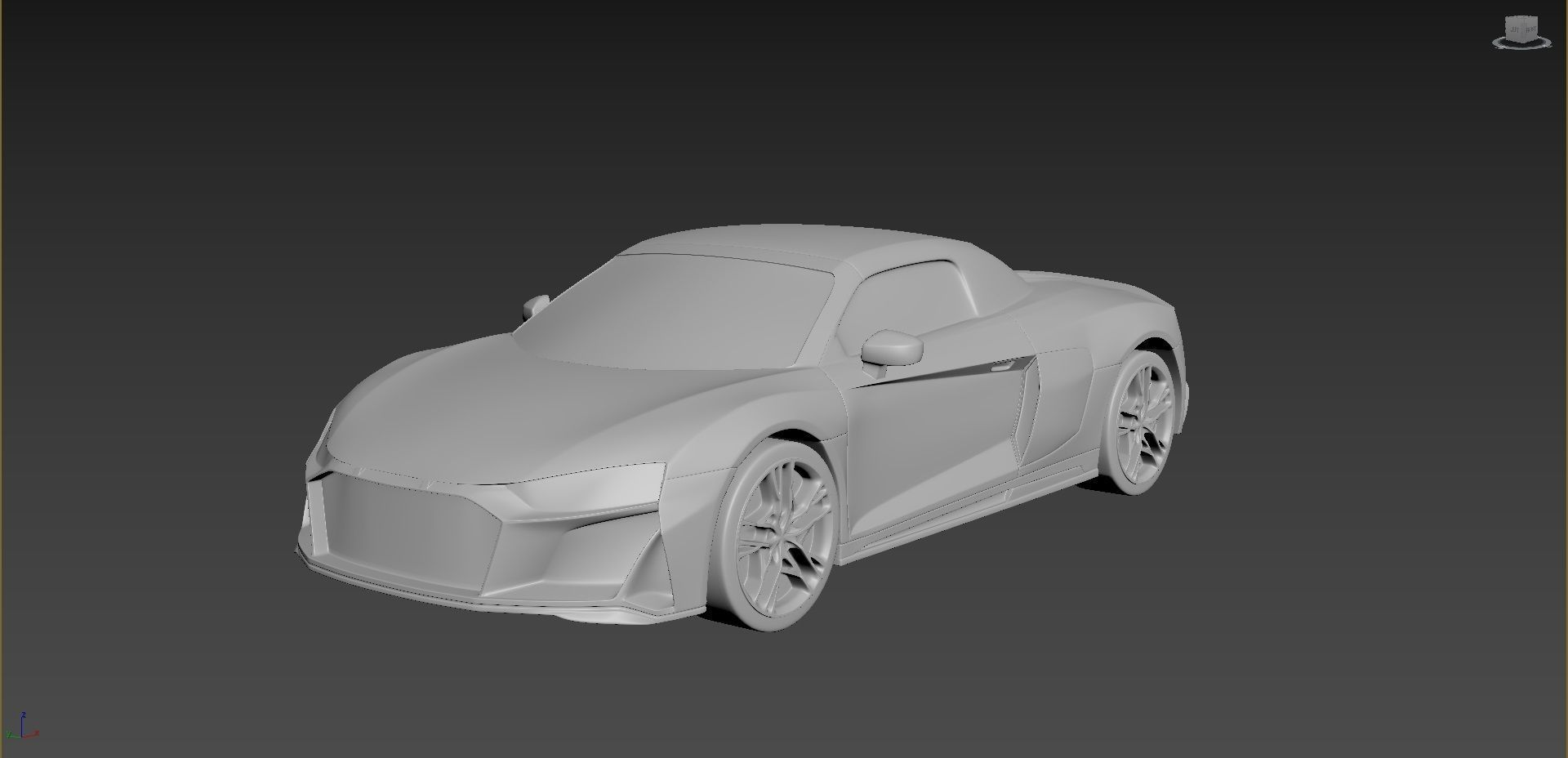 Audi R8 2020 on a small scale