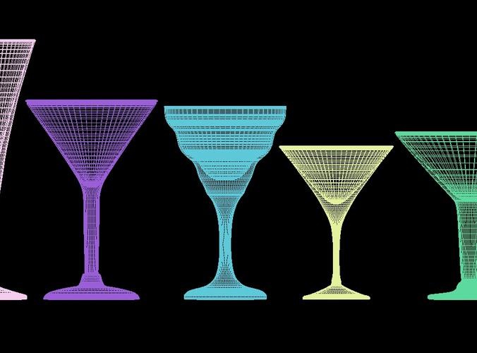 mega glass collection 01 3d model max obj 3ds fbx dxf dwg 5