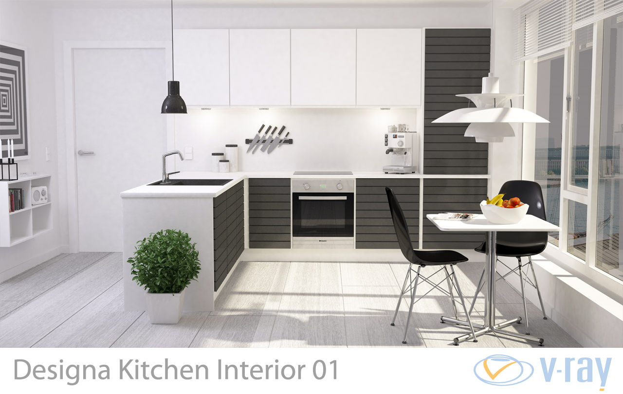 3D Modern Kitchen Interior 001 | CGTrader