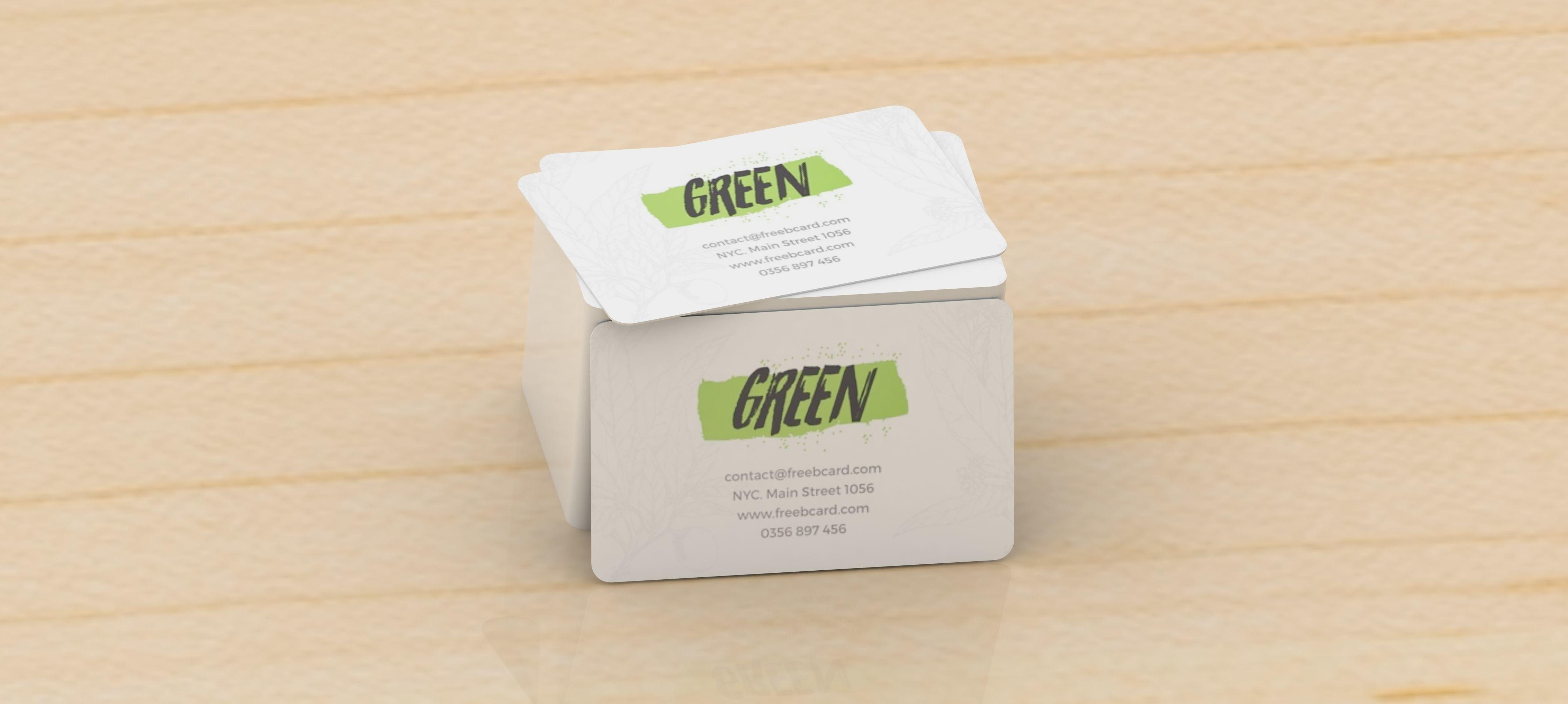 3D Business card nature standard