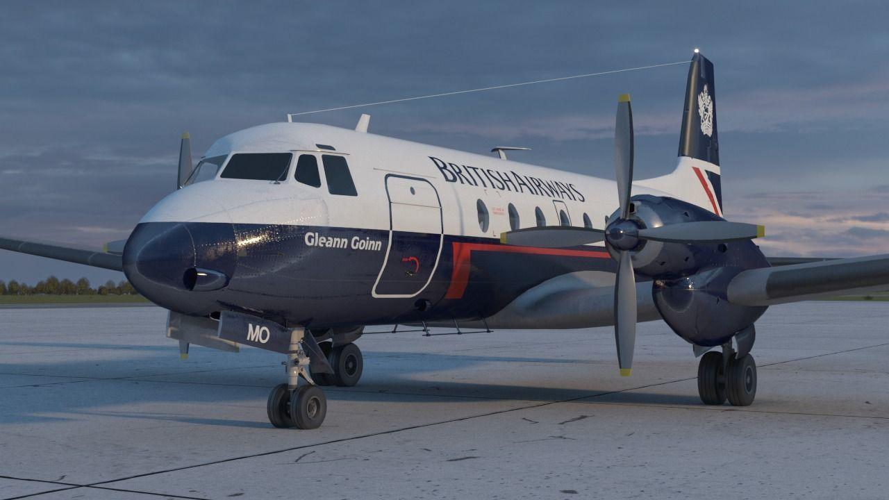 Hawker Siddeley 748 British Airways PBR