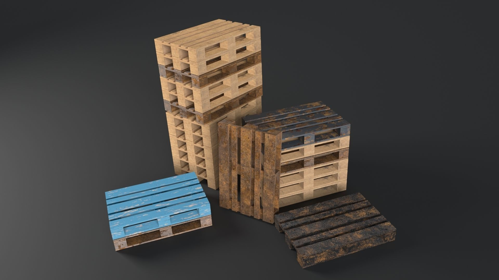 Pallet props low poly