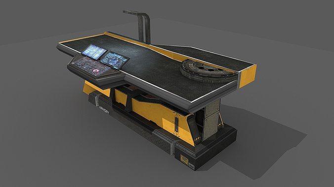 Sci Fi Repair Table 3d Model Cgtrader