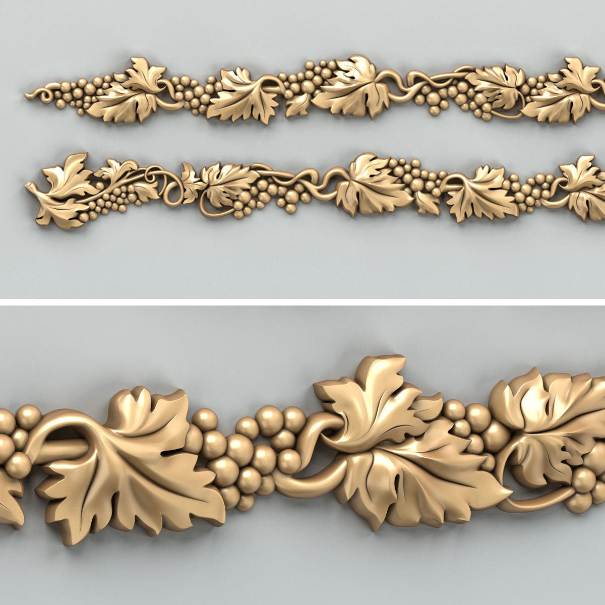 Carved decor horizontal 033