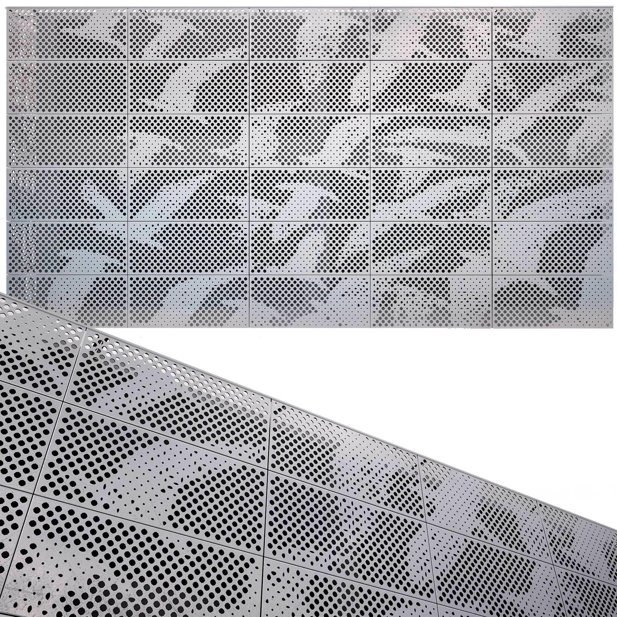 perforated metal panel N14 3D model
