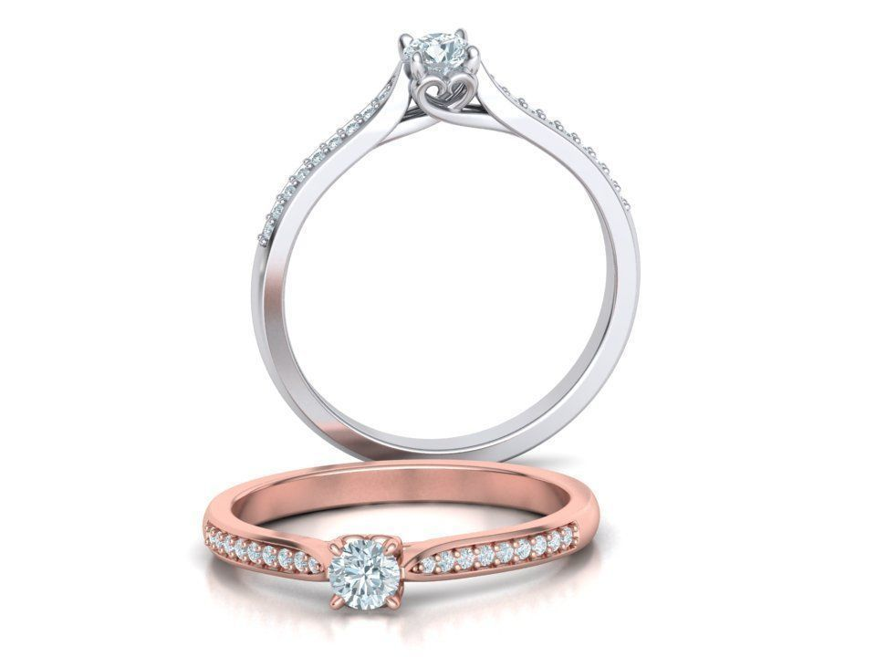 Promise Solitaire Ring Engagement Ring 3dmodel