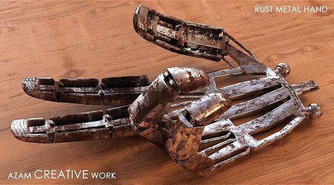 metal rust fingers 3d model rigged max obj mtl fbx 1