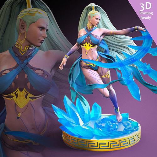 Shiva FF7 Remake Fan art 3D printing ready