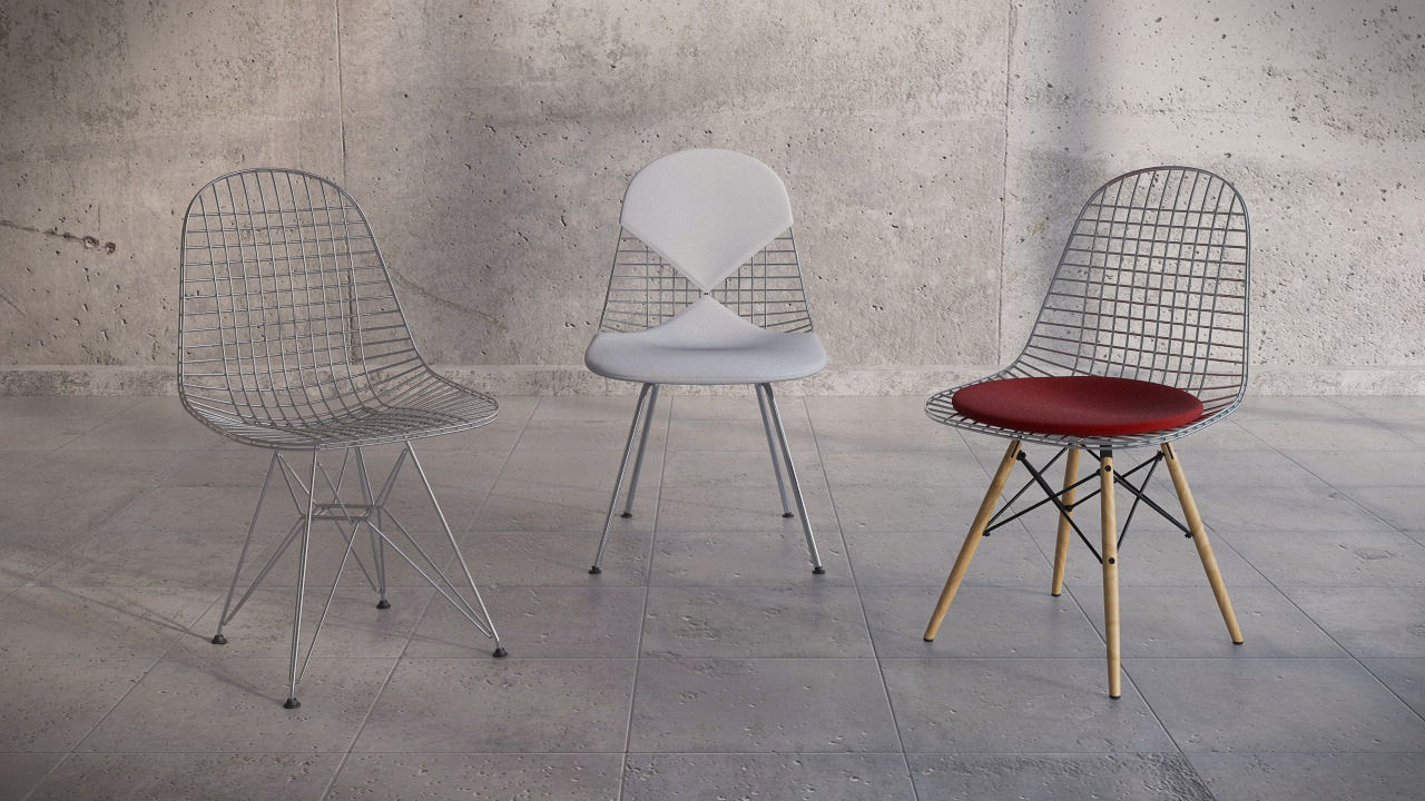 3D Vitra Eames wire chair DKR DKW DKX | CGTrader