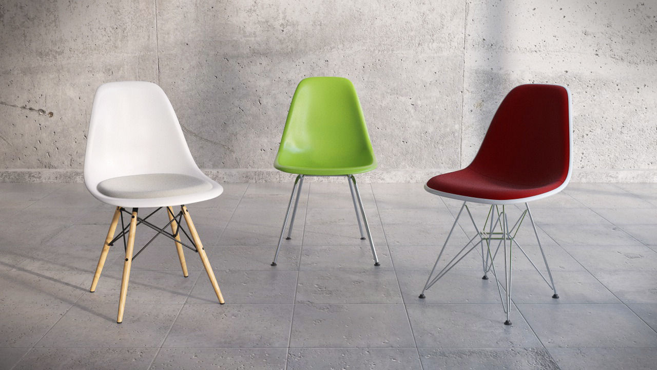 Vitra Eames Plastic Side Chair Dsw Dsk Dsx 3d Model C4d 1 ...