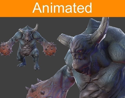 character juggernaut 3d model low-poly animated 3ds fbx