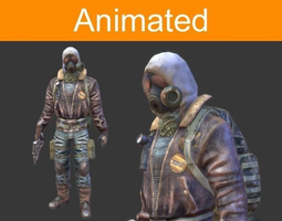 3d model character postapocalyptic animated realtime