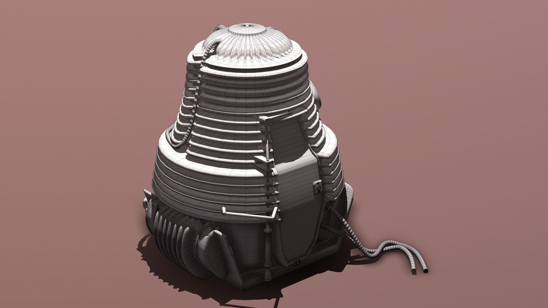 3D model Teleportation pod - from The Fly | CGTrader