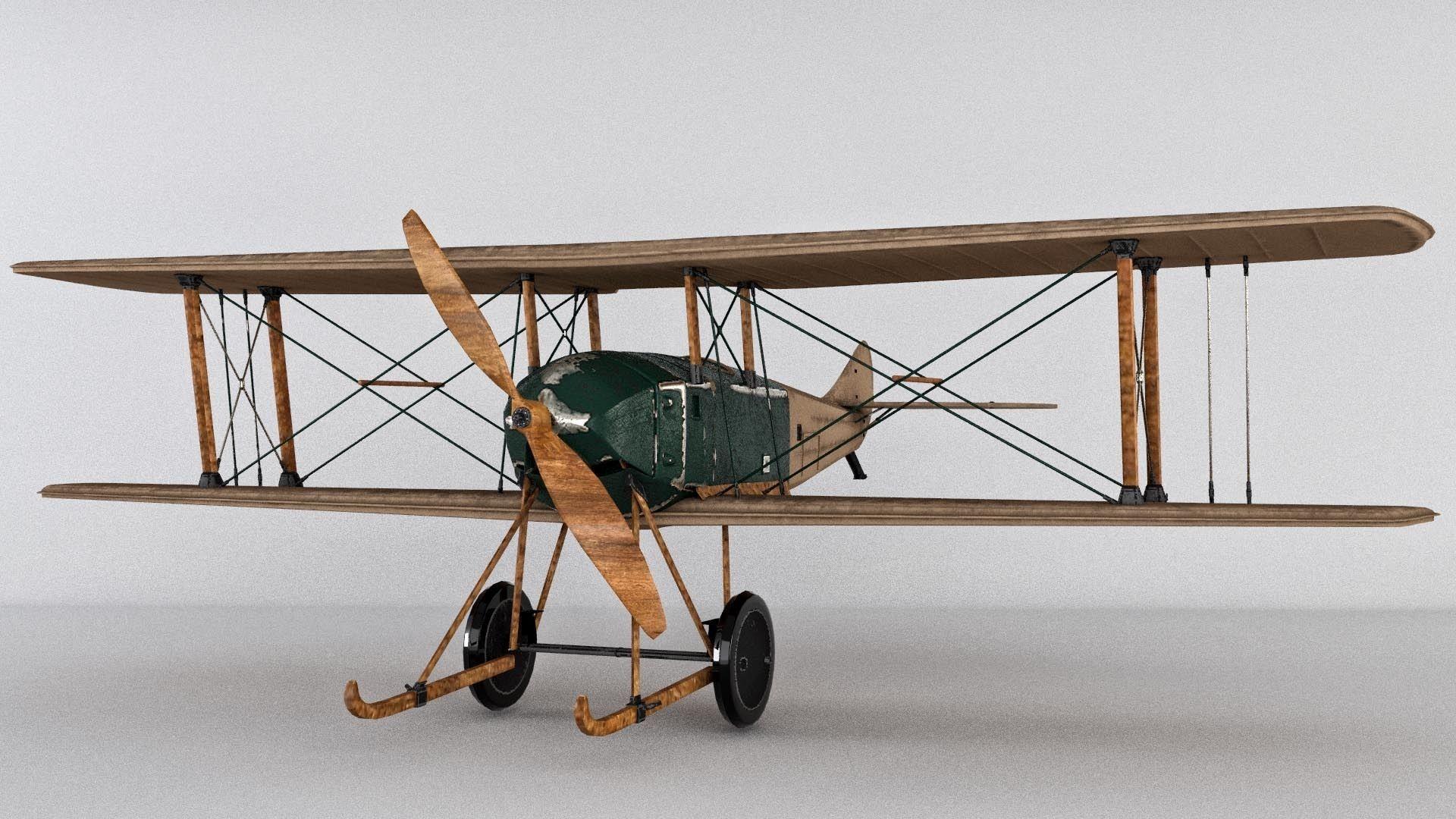 SPAD war Aircraft 3D model
