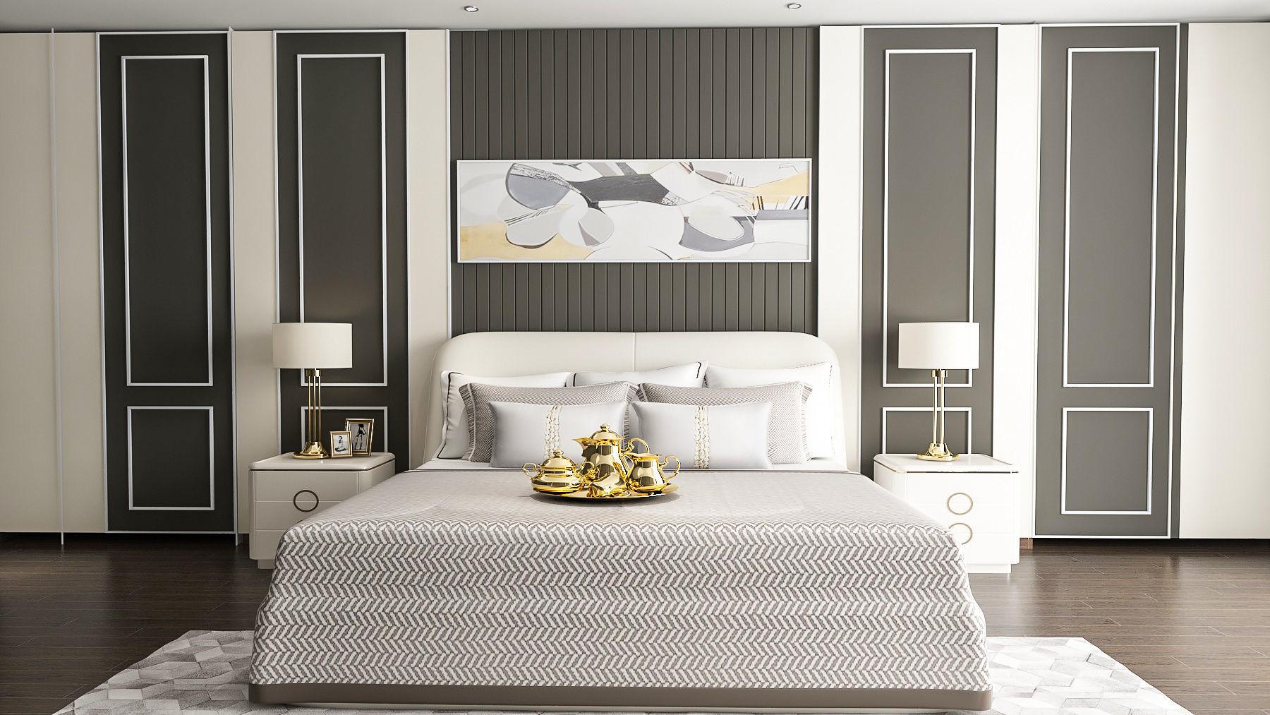 3D model Bedroom Neoclassic interior Design vray on Model Bedroom Interior Design  id=36864