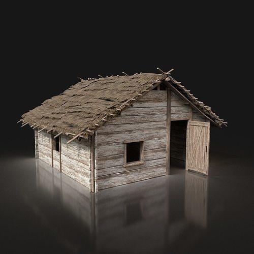 Village Wooden Thatched House Cottage Hut Cabin NextGen AAA
