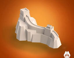 3d print model great wall of china sculpture
