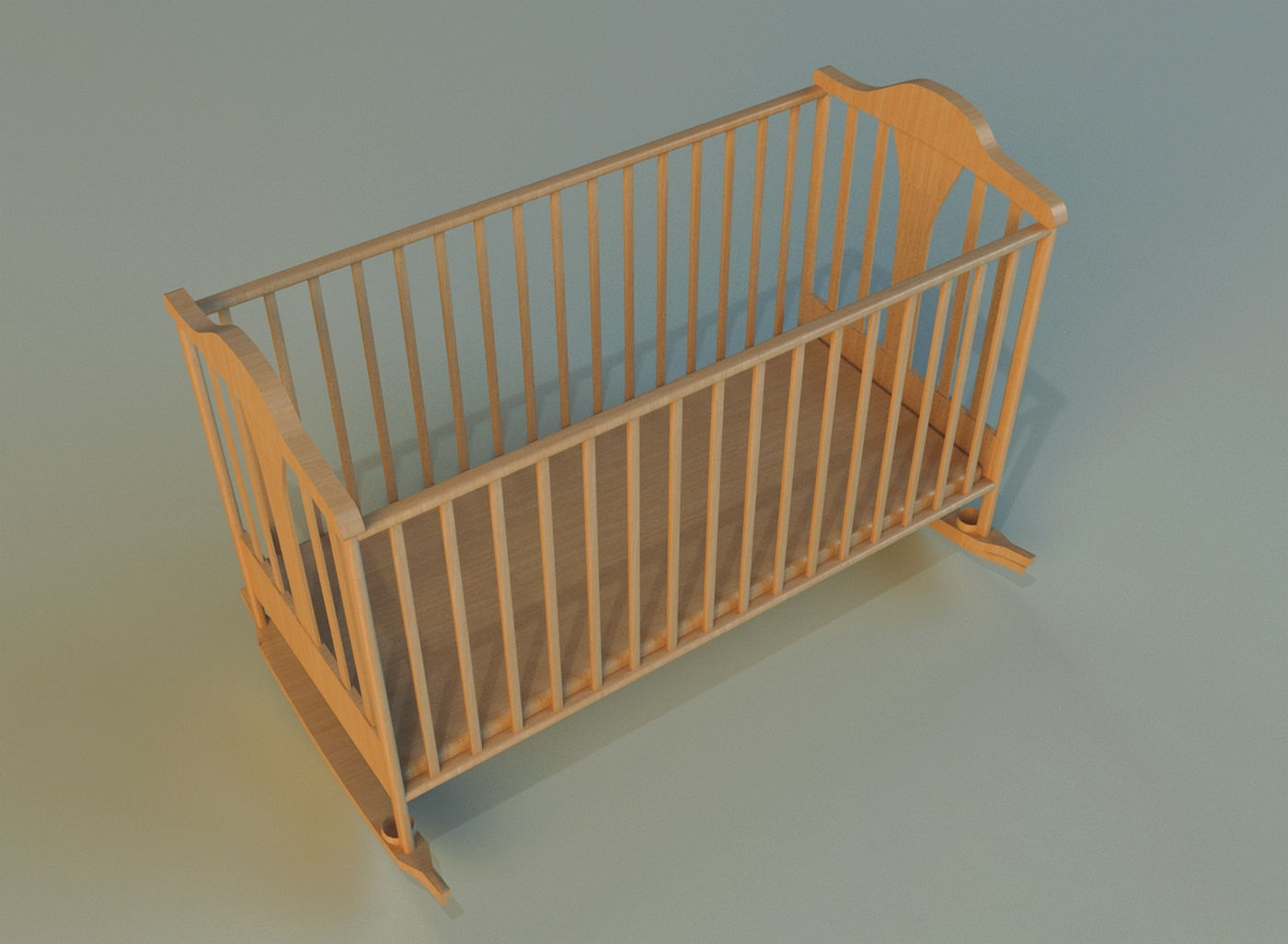 Baby bed pictures -  Cot Baby Bed 3d Model Max Obj 3ds Fbx Mtl 6