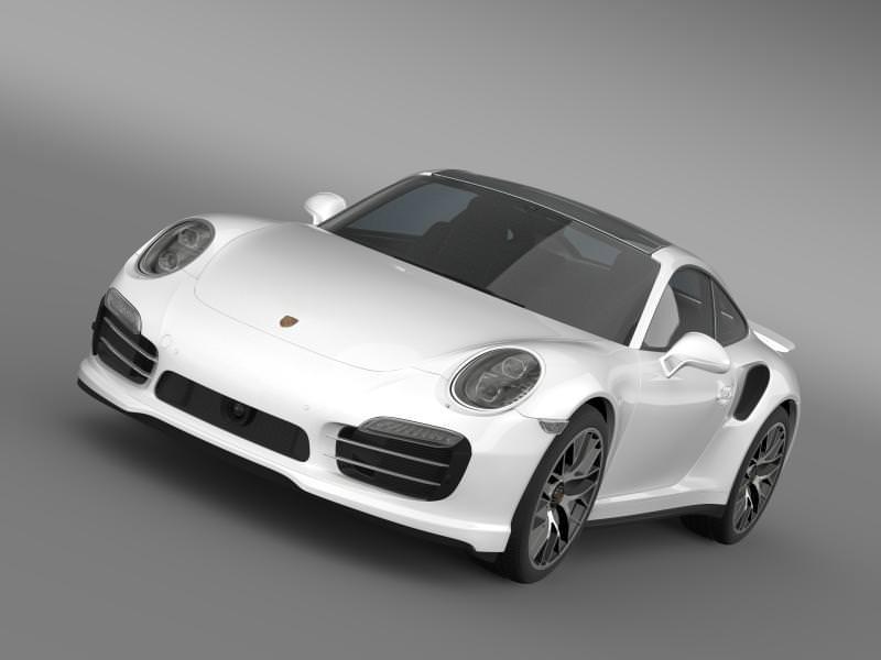 porsche 911 turbo s 2013 3d model max obj 3ds fbx c4d lwo lw lws 2