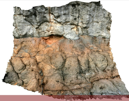 3D model realtime Volcanic rock scenario II