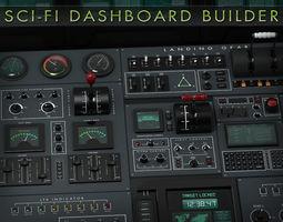 3D model Sci-Fi Dashboard Builder