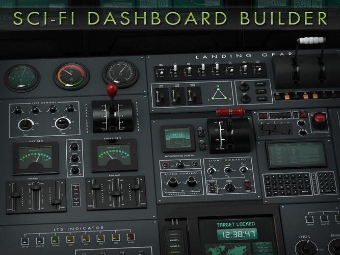 sci-fi dashboard builder 3d model max obj fbx ma mb mtl pdf 1