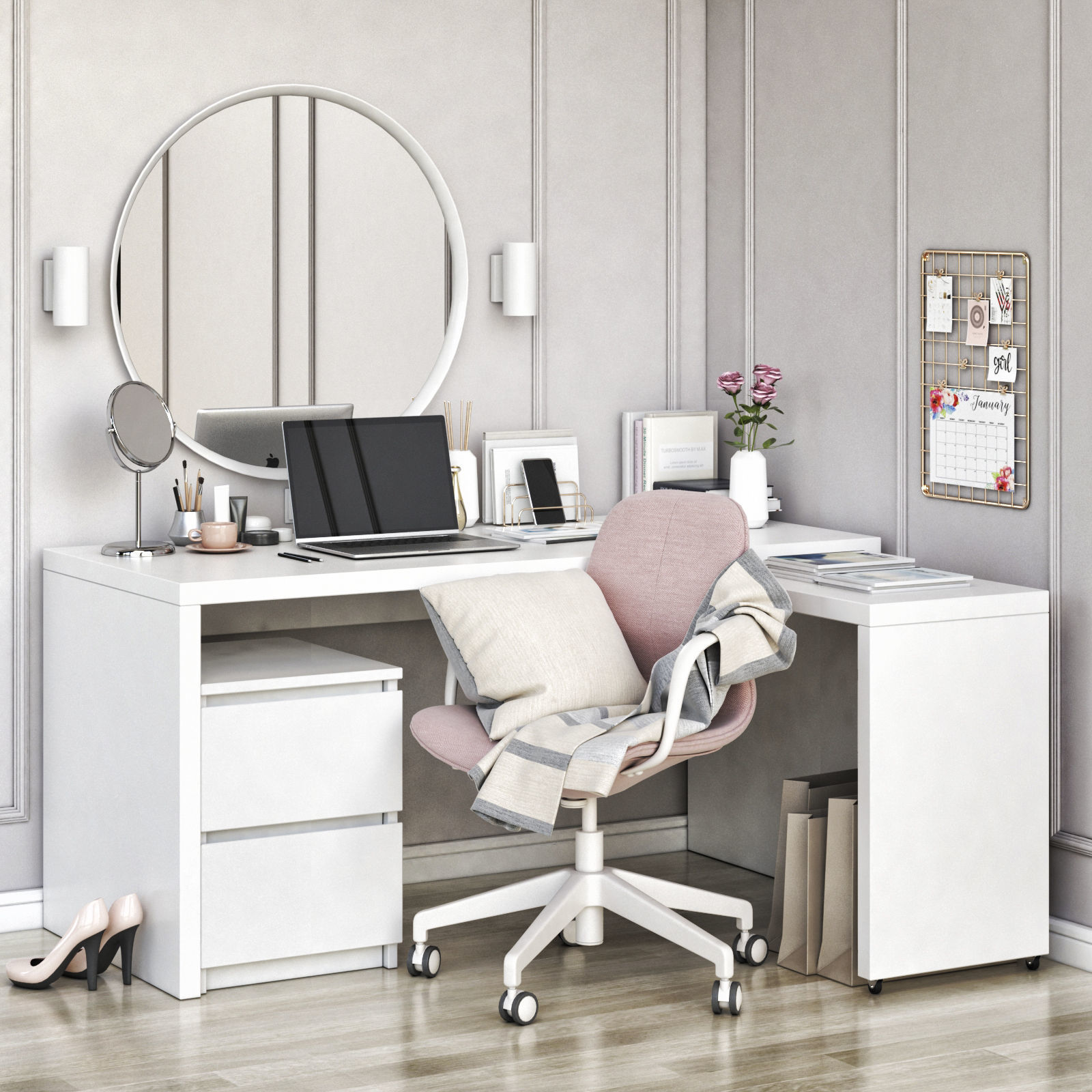 MALM corner workplace