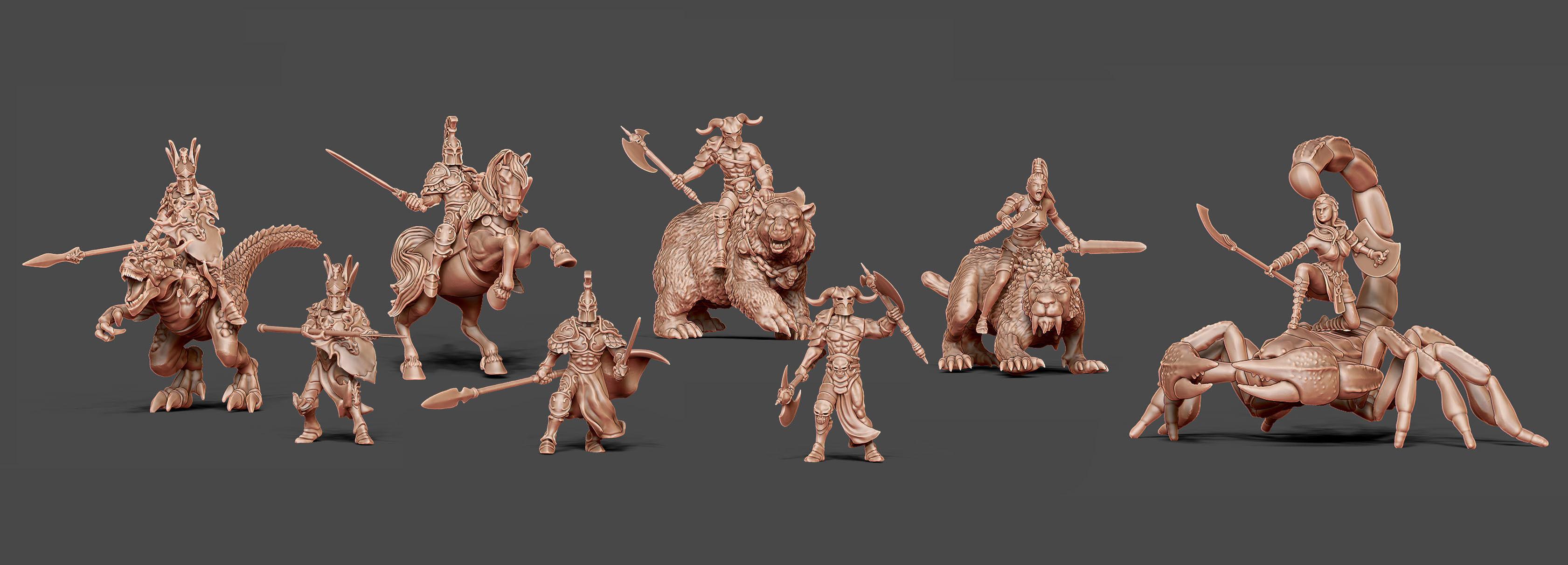 Beast Riders Bundle - 32-35 mm scale