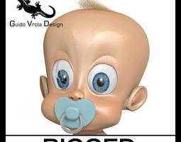 Toon cute baby 3D model