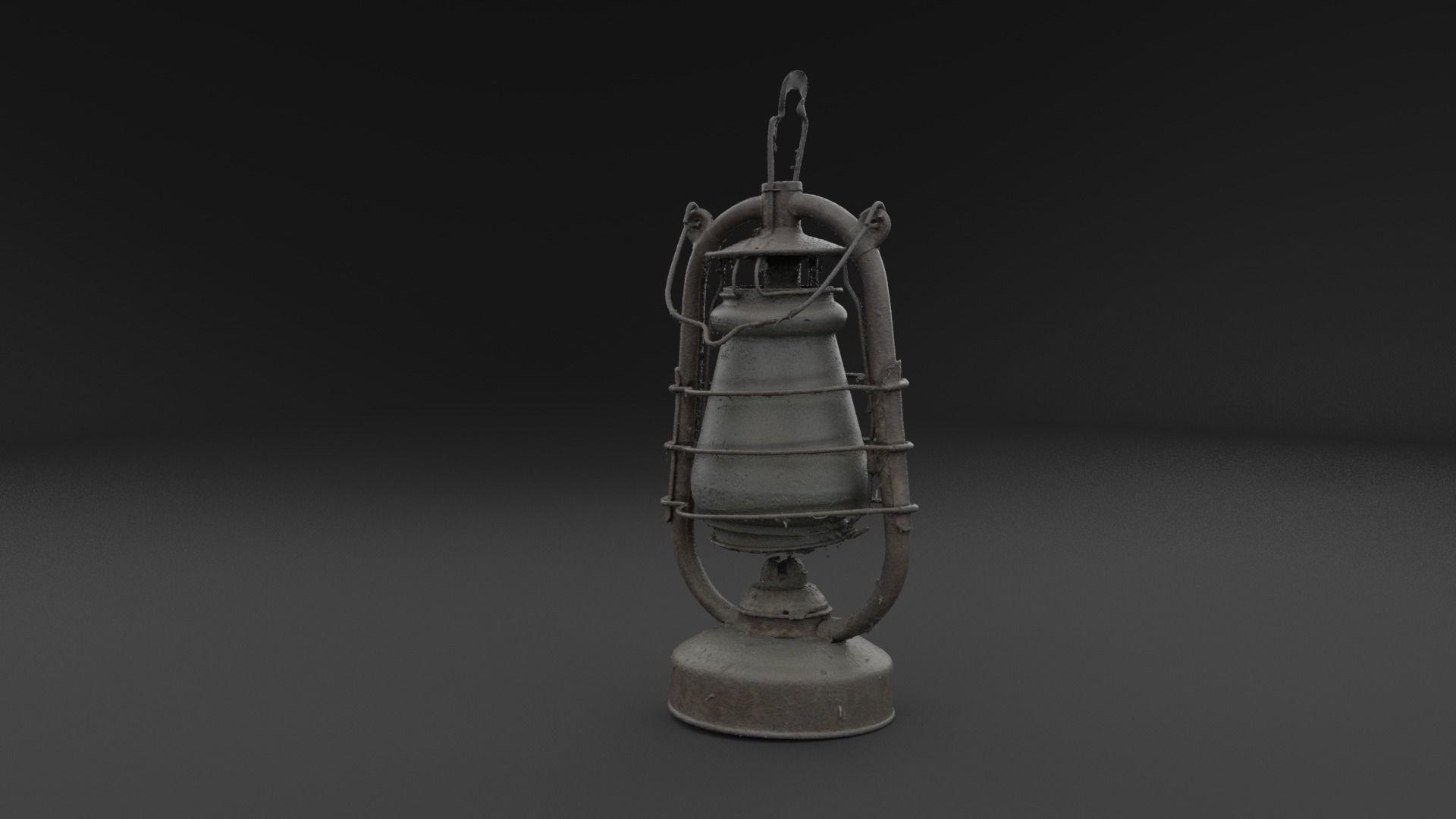 Scanned Old Kerosene Lamp RAW SCAN