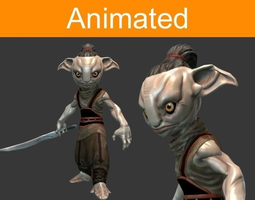 character forest guard 3d model low-poly animated 3ds fbx