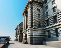County Hall - London - Textured 3D model