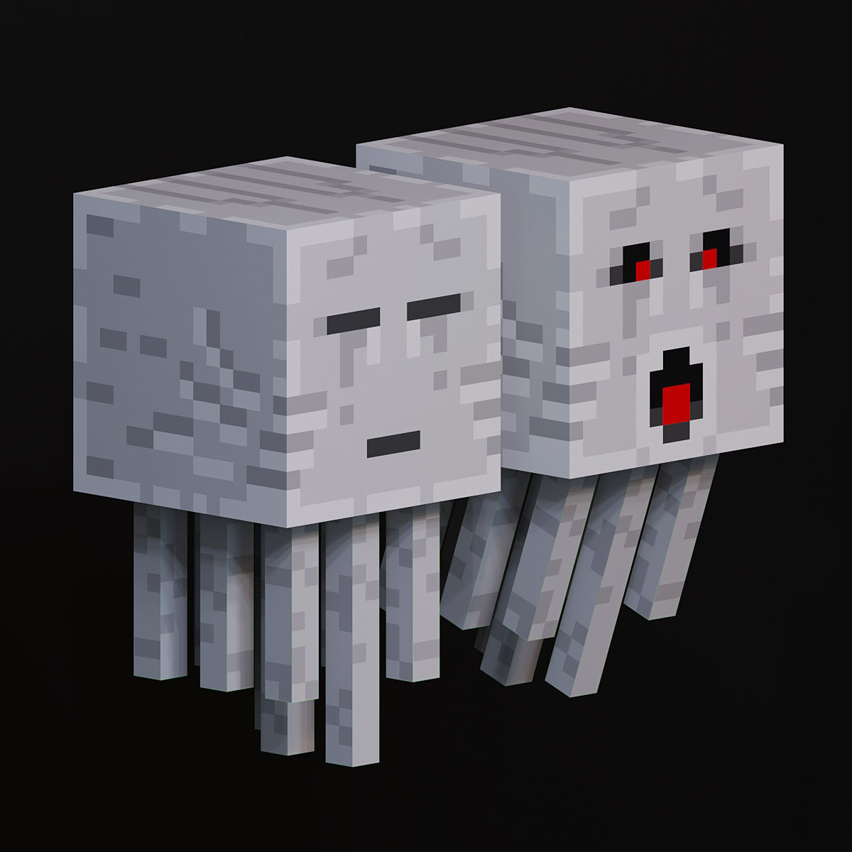Ghast mob from minecraft 3D model   CGTrader