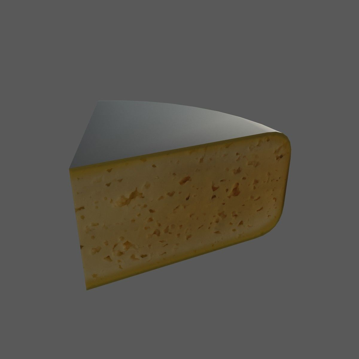 3D Model Cheese VR / AR / Low-poly GLTF USDZ